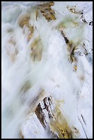 Water flowing over marble rocks. Sequoia National Park ( color)