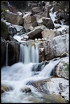 Upper Marble Falls of the Kaweah River. Sequoia National Park ( color)