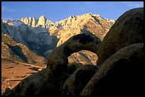 Boulders, Alabama Hills Arch I, Mt Whitney. Sequoia National Park ( color)