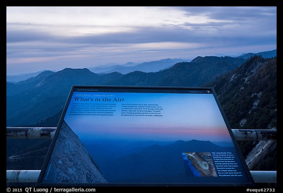Air quality interpretive sign. Sequoia National Park (color)