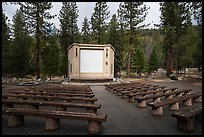 Amphitheater, Lodgepole Campground. Sequoia National Park, California, USA.