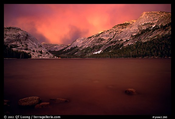 Tenaya Lake, dusk. Yosemite National Park (color)