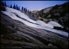 Waterwheels Fall, dusk. Yosemite National Park, California, USA. (color)