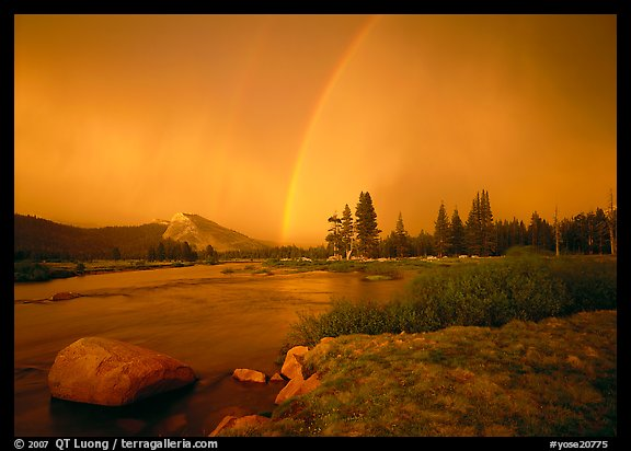 Double rainbow over Tuolumne Meadows. Yosemite National Park (color)
