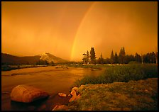 Double rainbow over Tuolumne Meadows. Yosemite National Park, California, USA. (color)