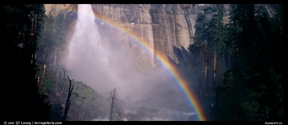Nevada Fall and rainbow. Yosemite National Park (color)