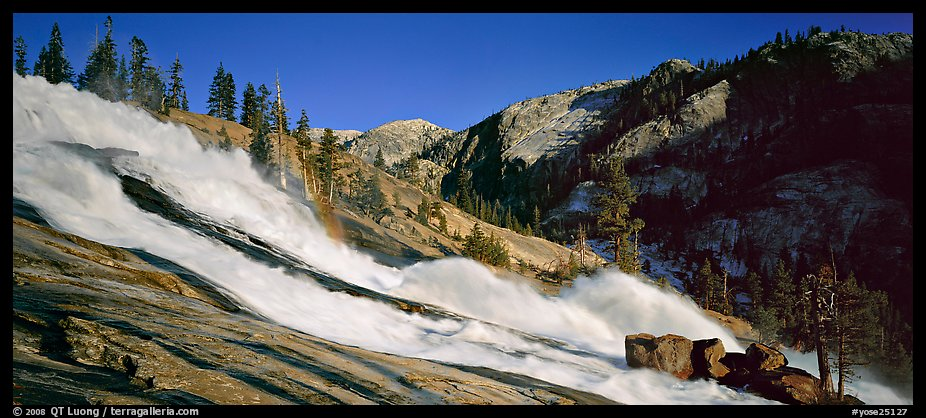 Waterwheel falls in the afternoon. Yosemite National Park (color)