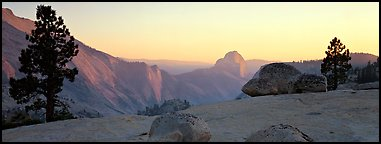 Olmstedt Point sunset. Yosemite National Park (Panoramic color)