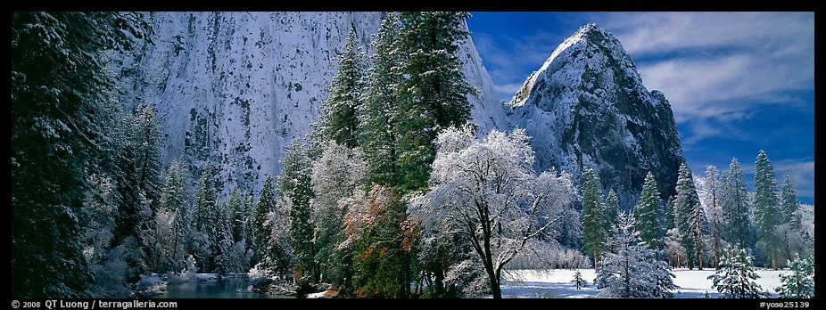 Cathedral rocks in winter. Yosemite National Park (color)