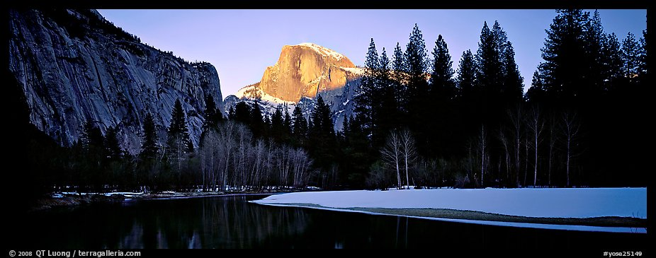Half Dome sunset in winter. Yosemite National Park (color)