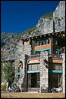 Ahwahnee hotel. Yosemite National Park, California, USA. (color)