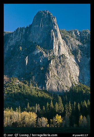 Sentinel Rock, late afternoon. Yosemite National Park (color)