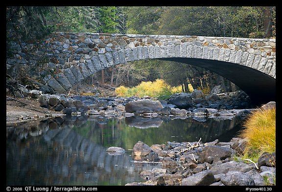 Bridge over the Merced River. Yosemite National Park (color)