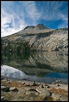 Mount Hoffman reflected in May Lake. Yosemite National Park, California, USA.