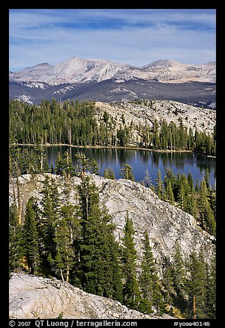 Granite domes and May Lake. Yosemite National Park (color)