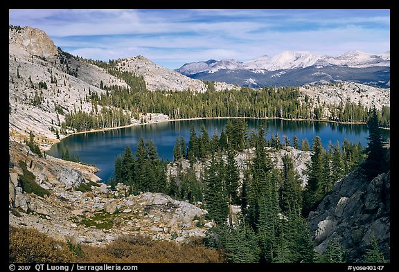 May Lake, granite domes, and forest. Yosemite National Park (color)