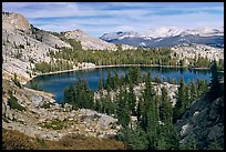 May Lake, granite domes, and forest. Yosemite National Park, California, USA. (color)