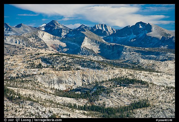 Granite slabs and mountains. Yosemite National Park (color)
