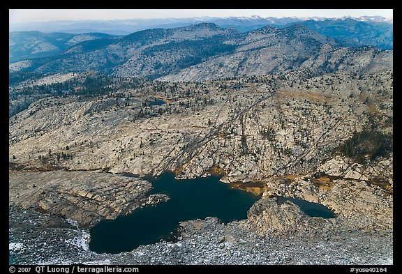 Lakes below Mount Hoffman. Yosemite National Park (color)