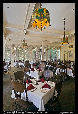 Dinning room, Wawona hotel. Yosemite National Park (color)