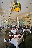 Dinning room, Wawona hotel. Yosemite National Park, California, USA. (color)