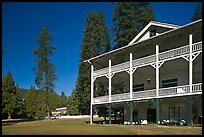 Wawona lodge. Yosemite National Park, California, USA. (color)