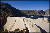 O'Shaughnessy Dam and Hetch Hetchy Reservoir. Yosemite National Park, California, USA. (color)