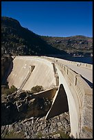 O'Shaughnessy Dam, Hetch Hetchy Valley. Yosemite National Park, California, USA. (color)