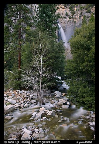 Lower falls, Cascade Creek. Yosemite National Park (color)
