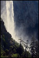Base of Bridalveil fall. Yosemite National Park, California, USA.