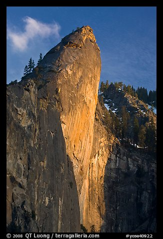 Leaning Tower, sunset. Yosemite National Park (color)