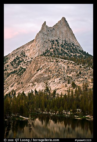 Cathedral Peak at sunset. Yosemite National Park (color)