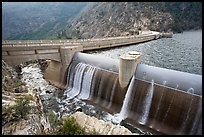 Overflow channel,  O'Shaughnessy Dam. Yosemite National Park, California, USA. (color)