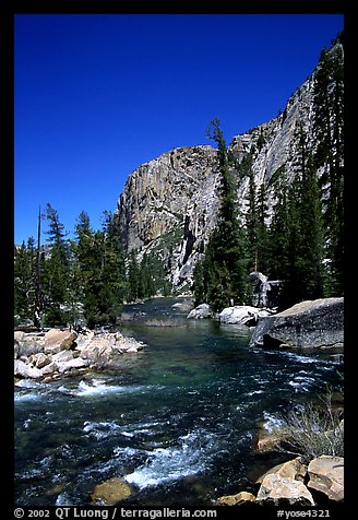 Tuolumne river on its way to  Canyon of the Tuolumne. Yosemite National Park (color)