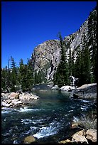 Tuolumne river on its way to  Canyon of the Tuolumne. Yosemite National Park ( color)