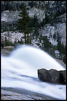 Waterwheel at dusk, Waterwheel falls. Yosemite National Park, California, USA.