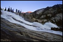 Waterwheel Falls, sunset. Yosemite National Park, California, USA. (color)