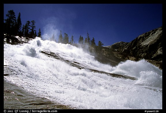 Turbulent waters of Waterwheel Falls in early summer. Yosemite National Park (color)