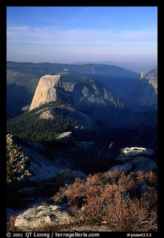 Half-Dome seen from Clouds rest, morning. Yosemite National Park, California, USA.