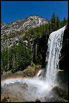Vernal Fall with rainbow. Yosemite National Park ( color)