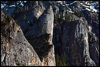 Cliffs and Leaning Tower. Yosemite National Park ( color)