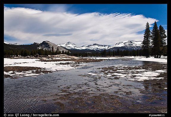 Flooded Twolumne Meadows in spring. Yosemite National Park (color)