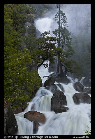 Cascade Creek spring run-off. Yosemite National Park (color)