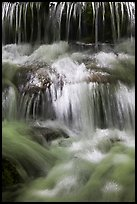 Cascades, Fern Spring. Yosemite National Park, California, USA. (color)