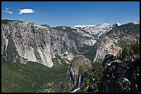 View of Bridalveil Fall and Yosemite Valley. Yosemite National Park ( color)