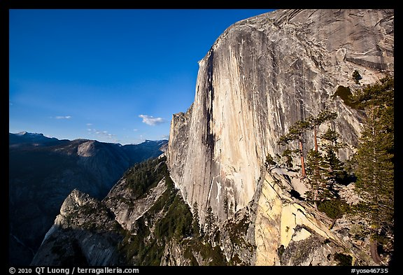 North-West face of Half-Dome. Yosemite National Park (color)