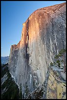 Last light on North-West face of Half-Dome. Yosemite National Park ( color)