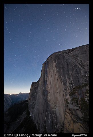 Face of Half-Dome by night. Yosemite National Park (color)