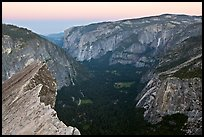 Yosemite Valley seen from Diving Board, dawn. Yosemite National Park ( color)