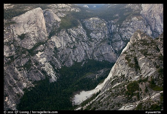 Tenaya Creek from above. Yosemite National Park (color)